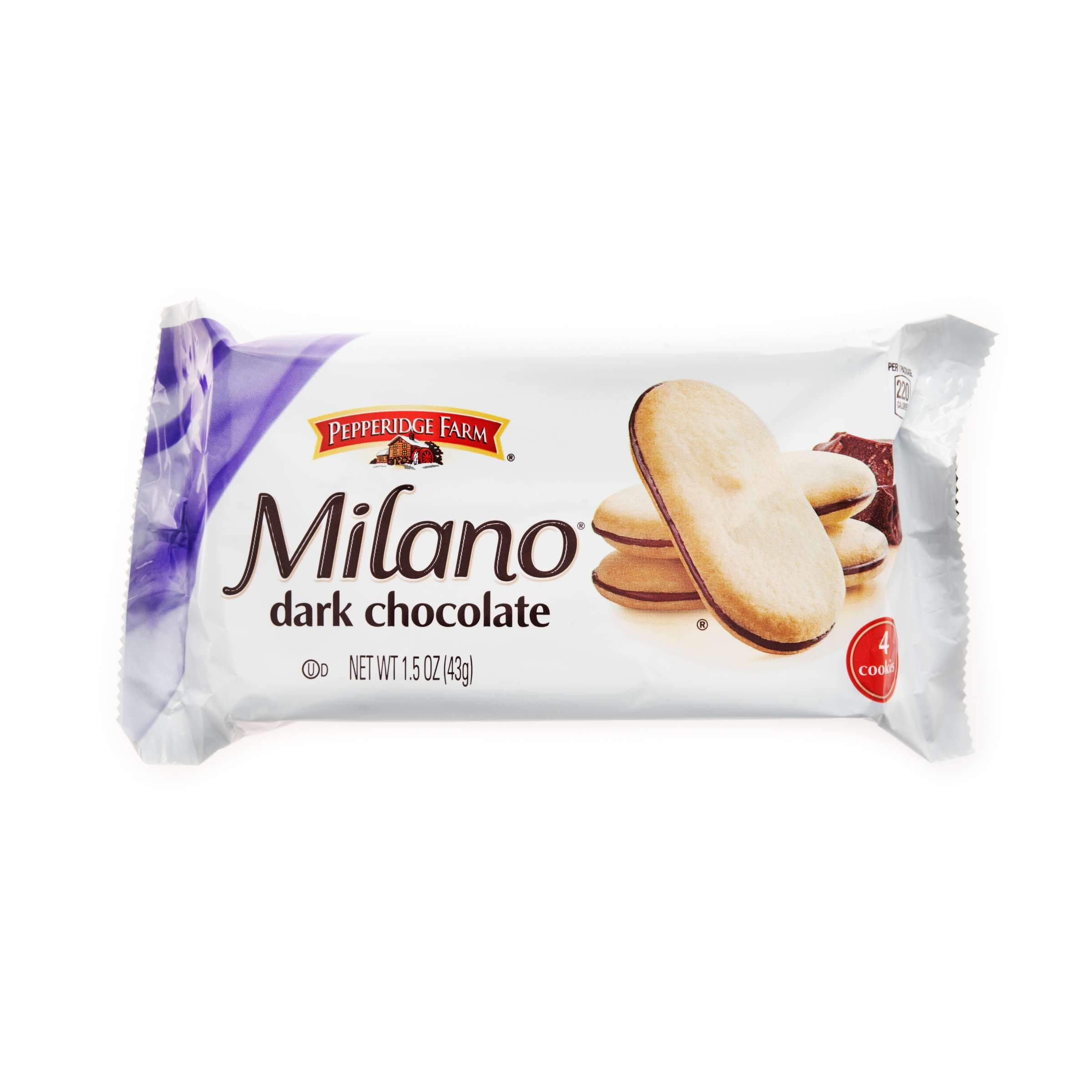 Milano Dark Chocolate Cookies Pepperidge Farms Dark Chocolate 4 Cookies-1.5 Oz