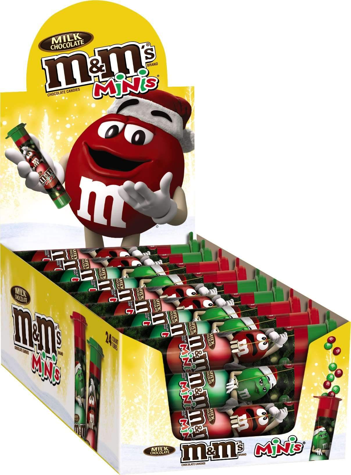 M&M's Chocolate Candies Meltable M&M's Milk Chocolate Minis 1.77 Oz-24 Count