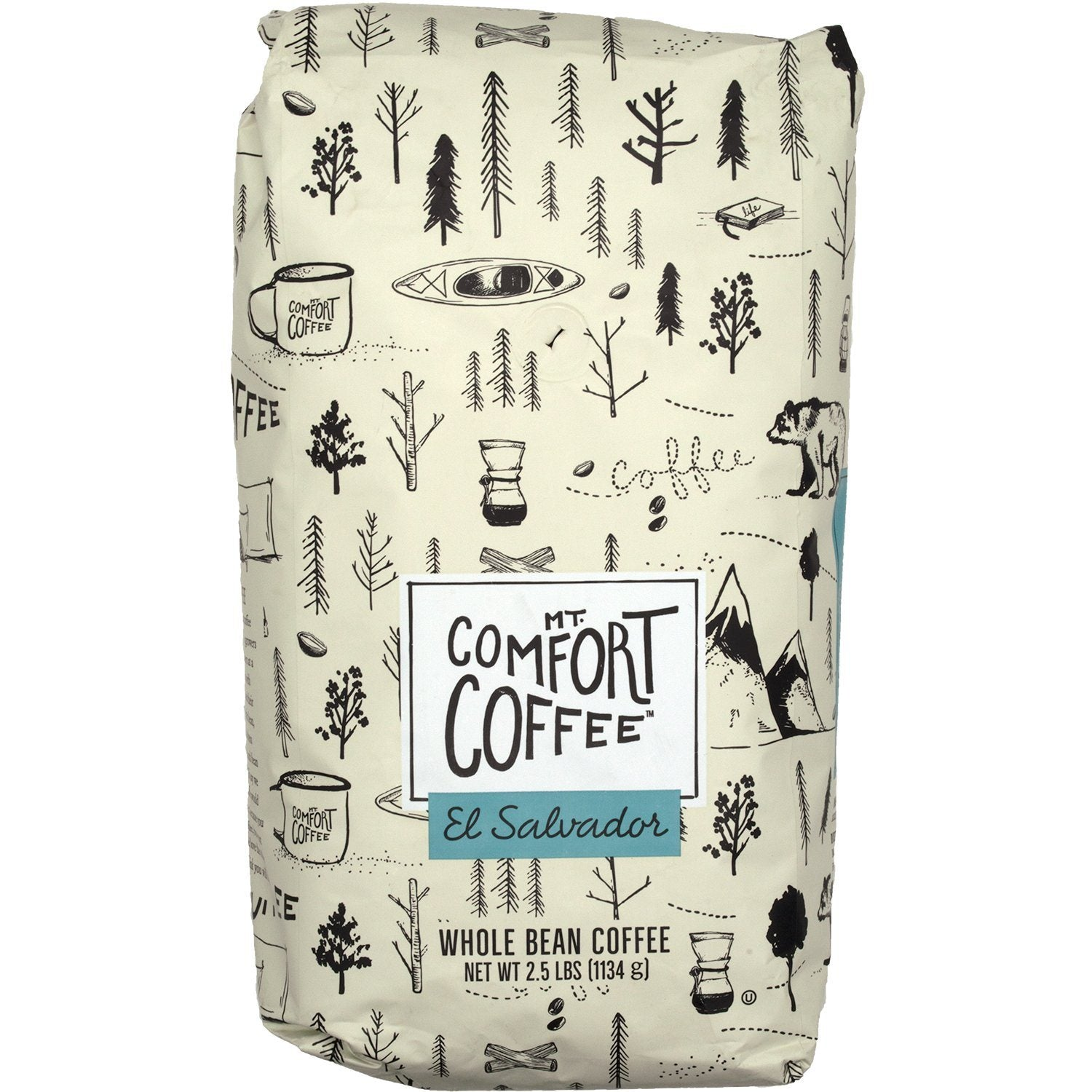 Mt. Comfort Coffee Whole Bean Coffee Mt. Comfort Coffee El Salvador Medium Roast 2.5 Pound