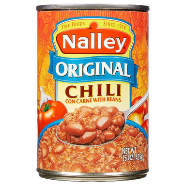 Nalley's Chili Con Carne with Beans Nalley's Original 15 Ounce