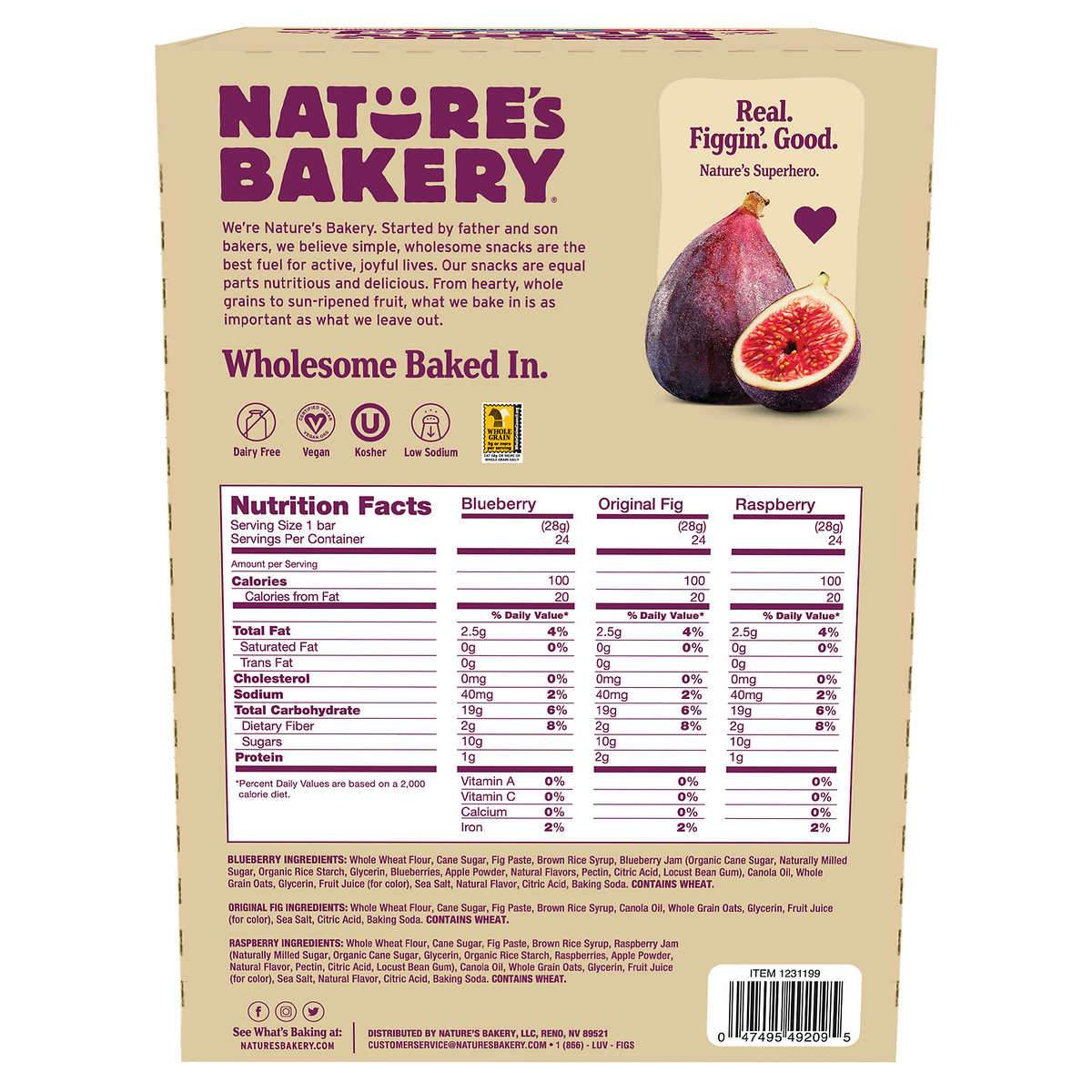 Nature's Bakery Fig Bar Nature's Bakery