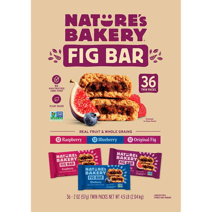 Nature's Bakery Fig Bar Nature's Bakery Variety 2 Oz-36 Count