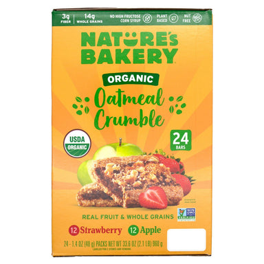 Nature's Bakery Oatmeal Crumble Bars Nature's Bakery Variety 1.41 Oz-24 Count