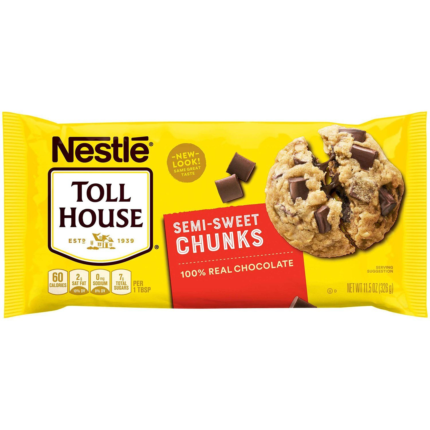 Nestlé Toll House Baking Morsels Meltable Toll House Semi-Sweet Chunks 11.5 Ounce