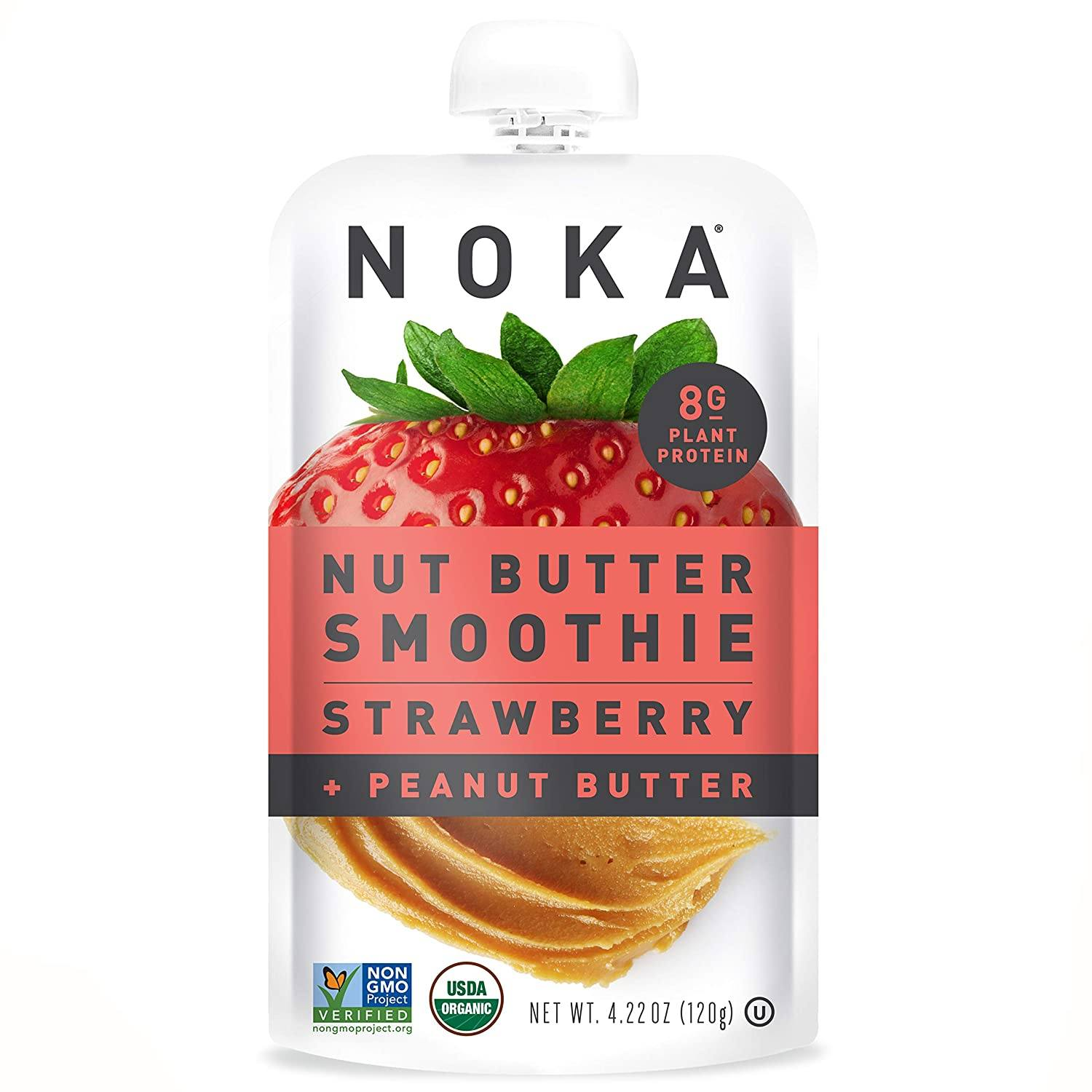 NOKA Nut Butter Smoothies NOKA Strawberry + Peanut Butter 4.22 Ounce