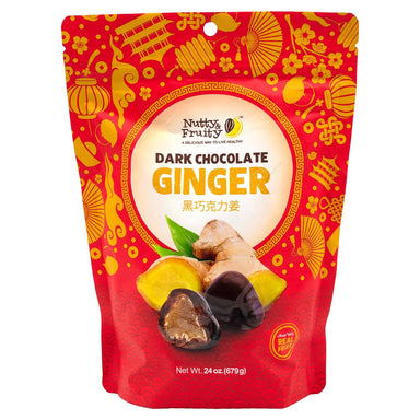 Nutty & Fruity Dark Chocolate Ginger Meltable Nutty & Fruity 24 Ounce