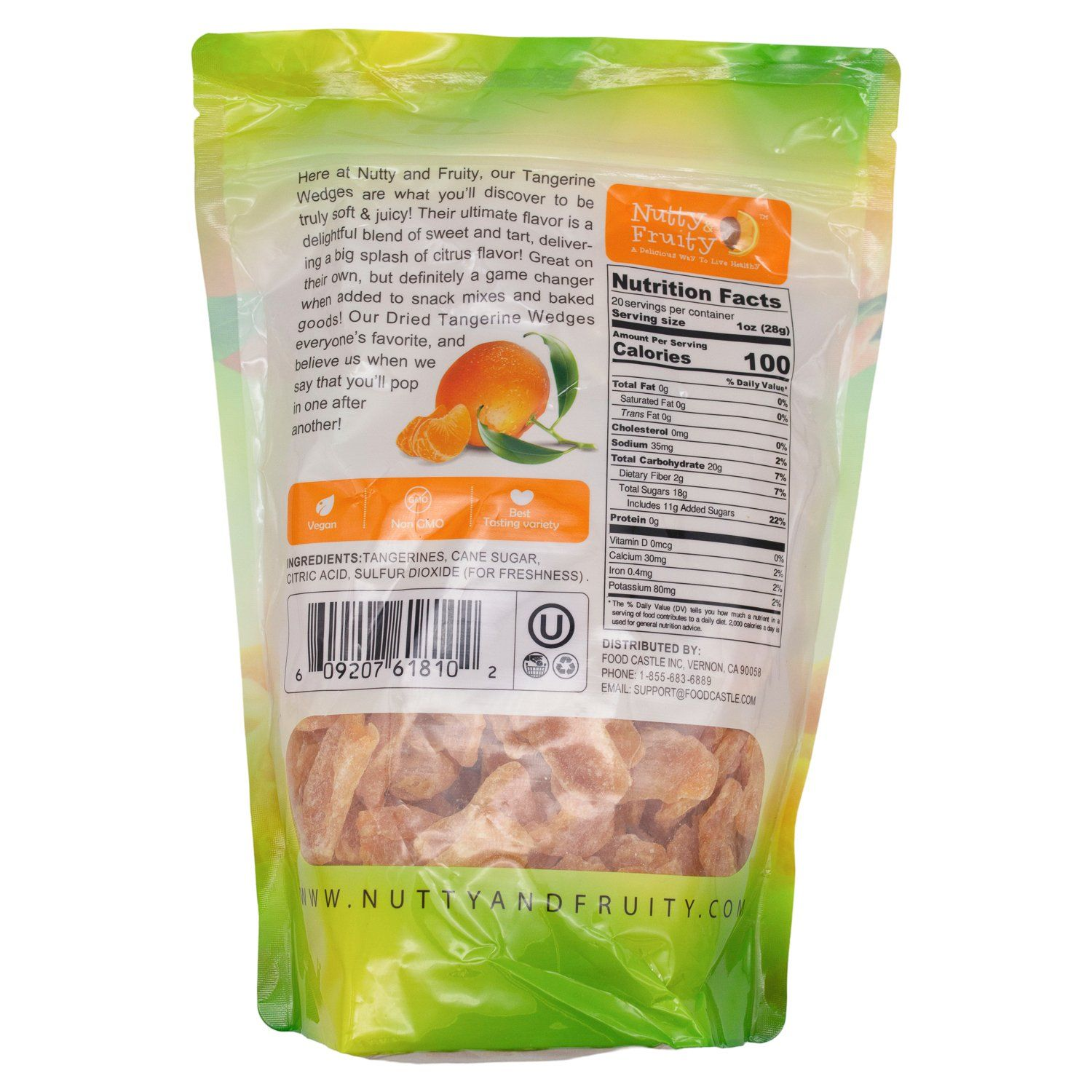 Nutty Fruity Dried Tangerine Wedges Nutty & Fruity