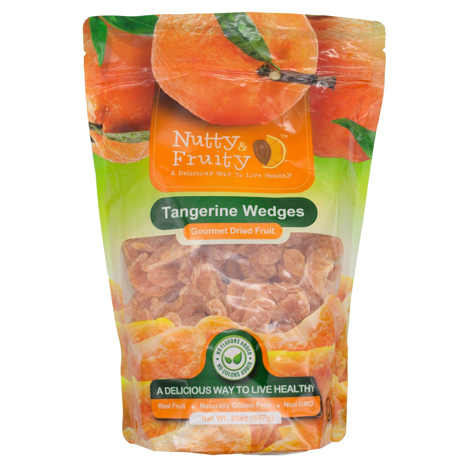 Nutty Fruity Dried Tangerine Wedges Nutty & Fruity Original 20 Ounce