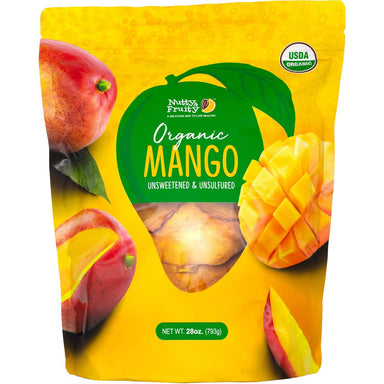 Nutty & Fruity Organic Dried Mango Nutty & Fruity 28 Ounce