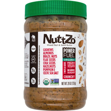 NuttZo Power Fuel Mixed Nut & Seed Butter NuttZo Organic Crunchy 26 Ounce
