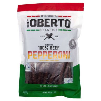 Oberto Classics Beef Pepperoni Sticks Oberto 24 Ounce