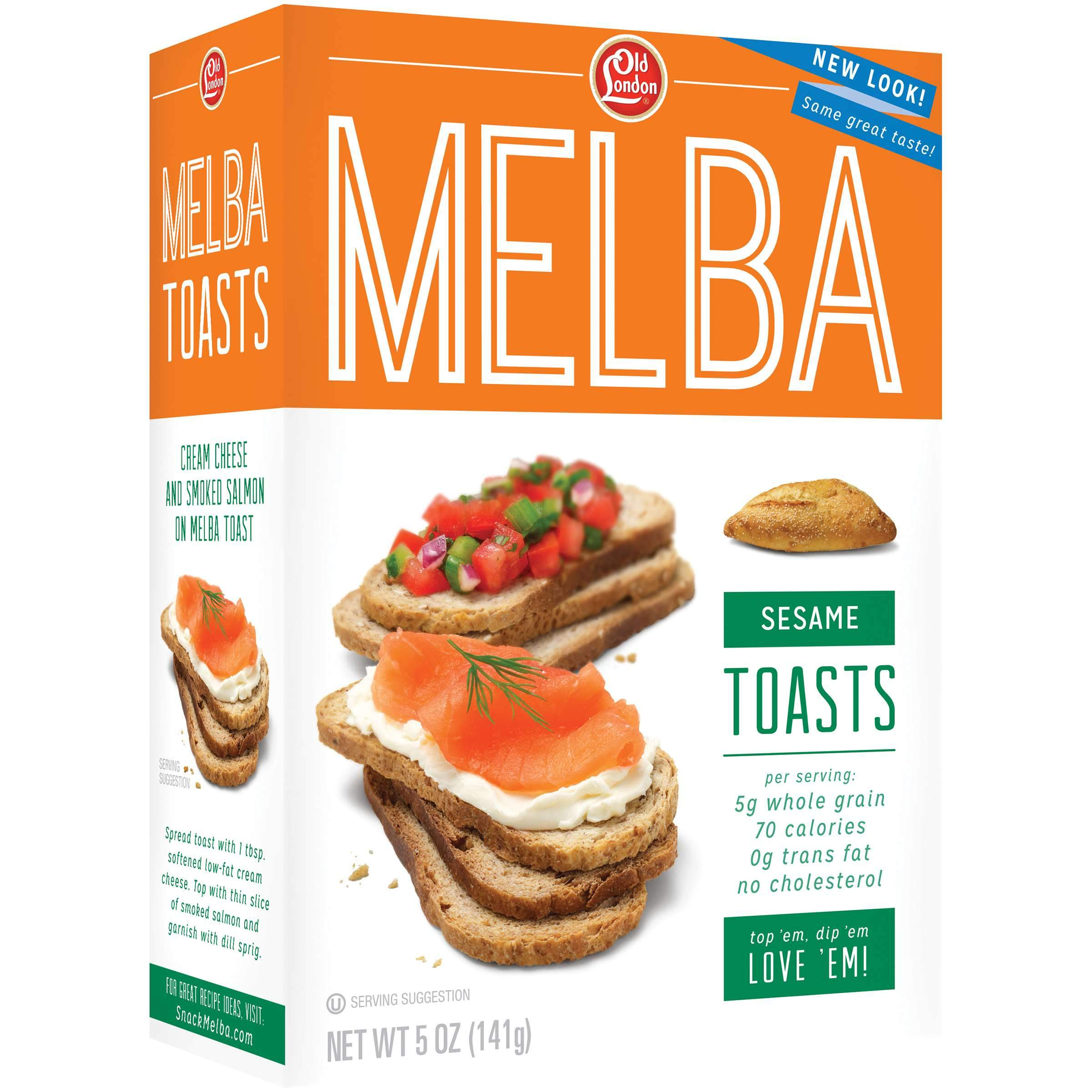 Old London Melba Toast Old London Foods Sesame 5 Ounce