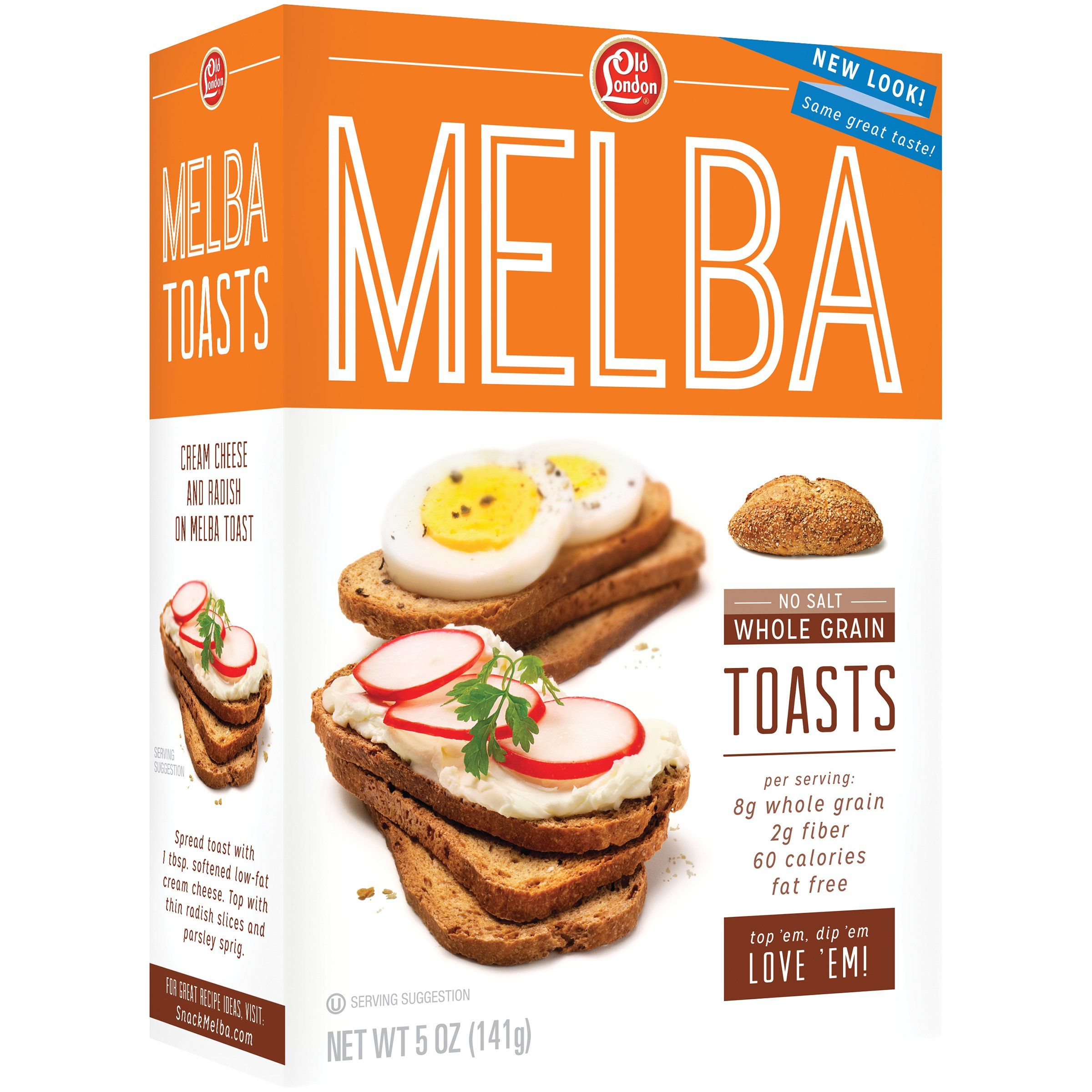 Old London Melba Toast Old London Foods Unsalted Whole Grain 5 Ounce