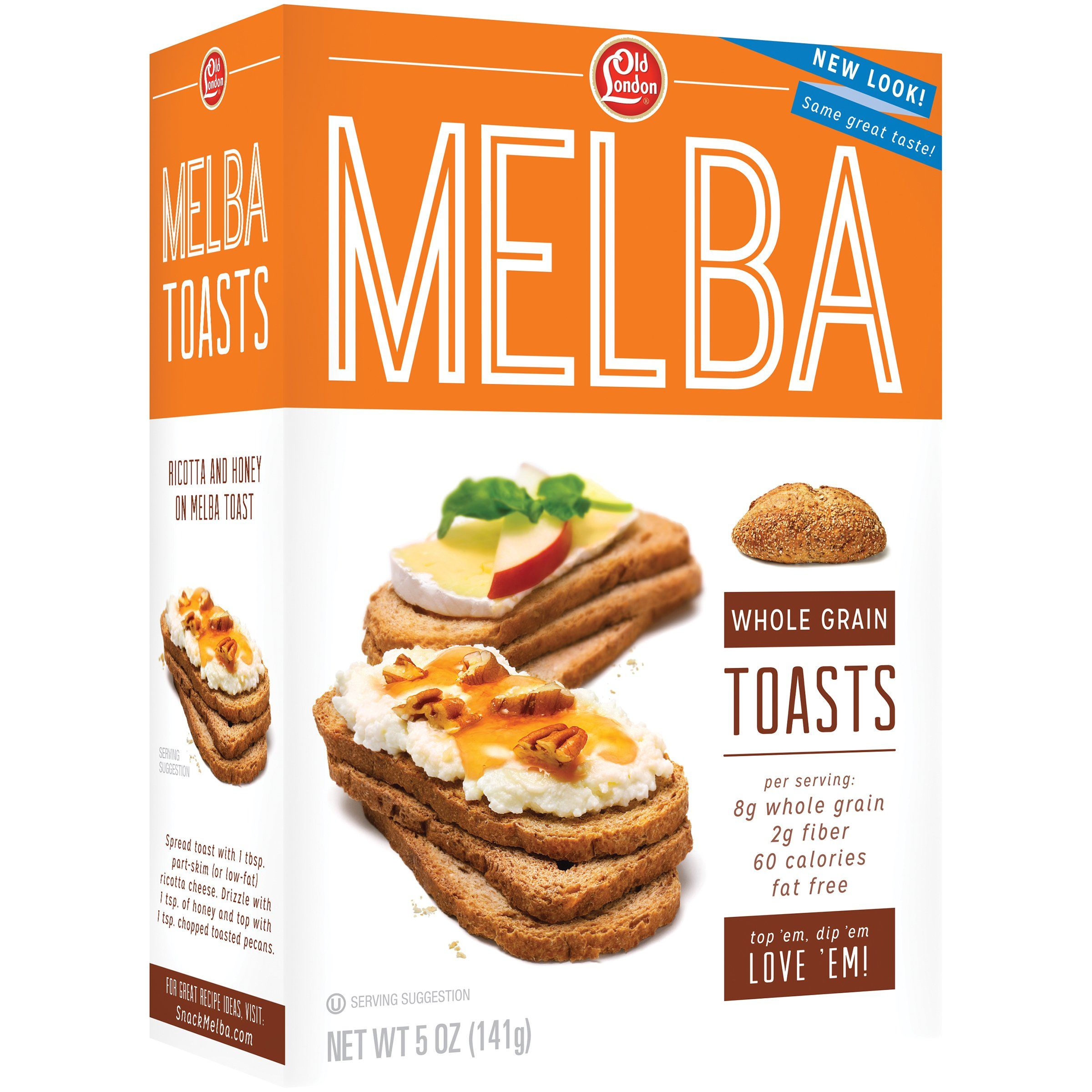 Old London Melba Toast Old London Foods Whole Grain 5 Ounce