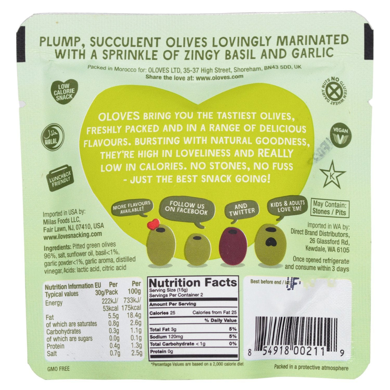OLOVES Natural Whole Pitted Olives Elma Farms