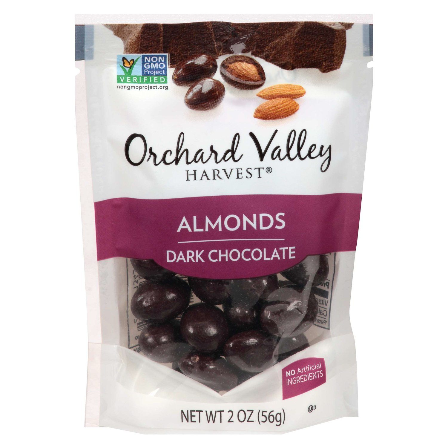 Orchard Valley Harvest Chocolate Covered Meltable Orchard Valley Harvest Dark Chocolate Almonds 2 Ounce