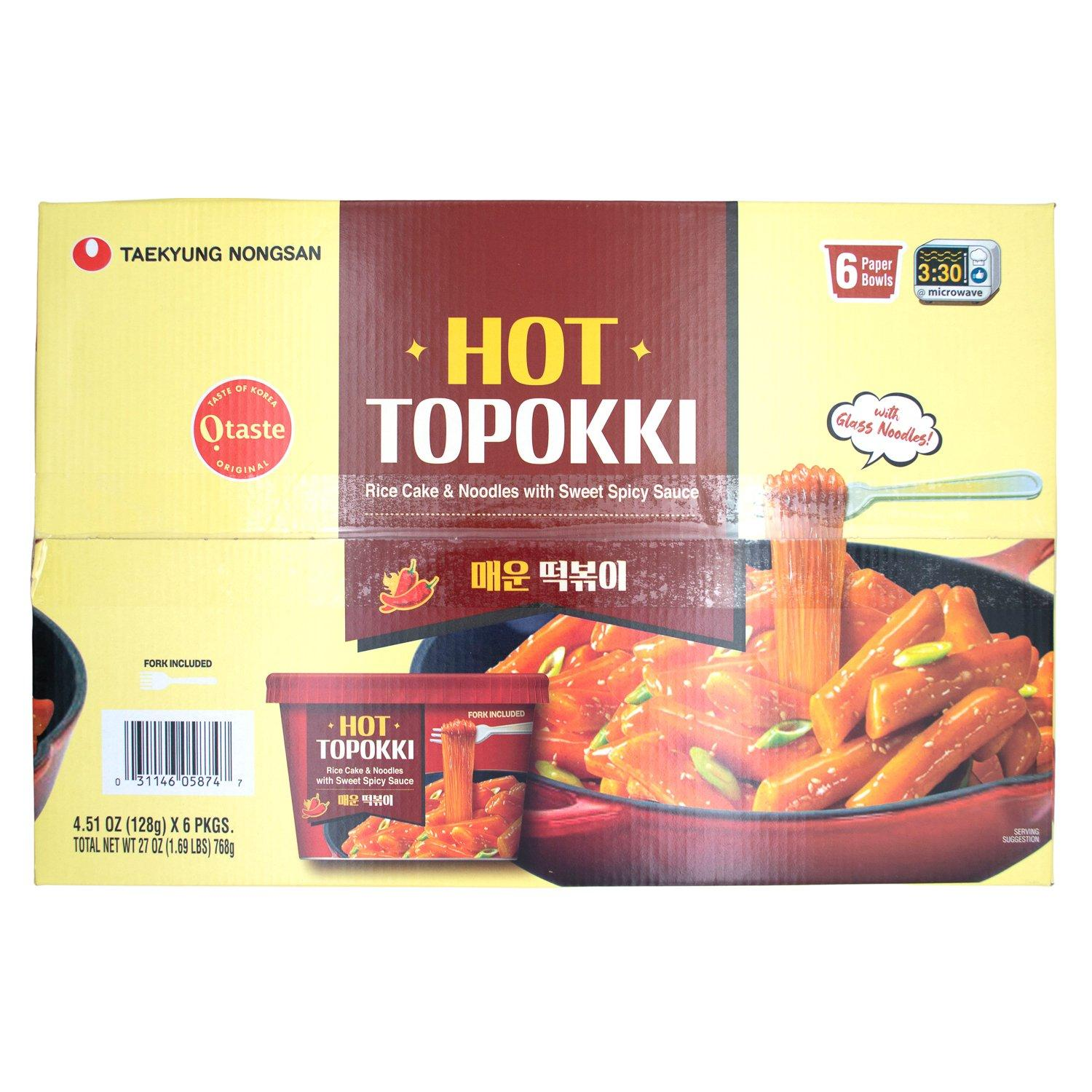O'taste Hot Topokki Nongshim Hot 4.51 Oz-6 Count