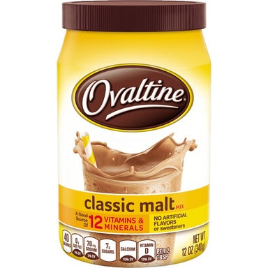 Ovaltine Drink Mix Ovaltine Classic Malt 12 Ounce