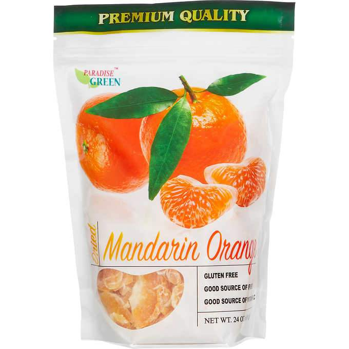 Paradise Green Dried Mandarin Oranges, 24 Ounce Paradise Green