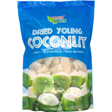 Paradise Green Dried Young Coconut, 24 Ounce Paradise Green