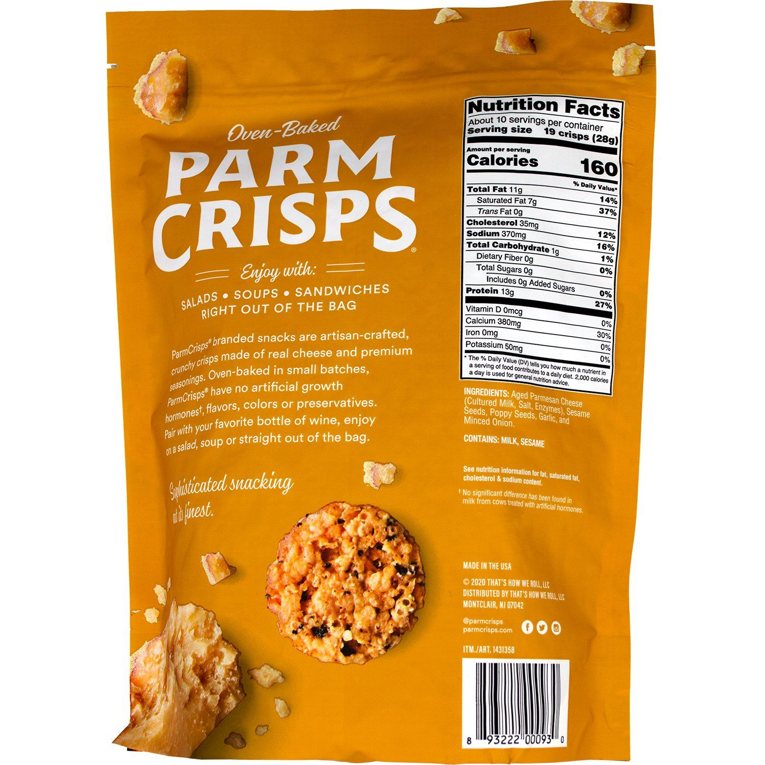 ParmCrisps Oven-Baked Cheese Snacks ParmCrisps
