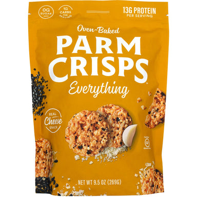 ParmCrisps Oven-Baked Cheese Snacks ParmCrisps Everything 9.5 Ounce