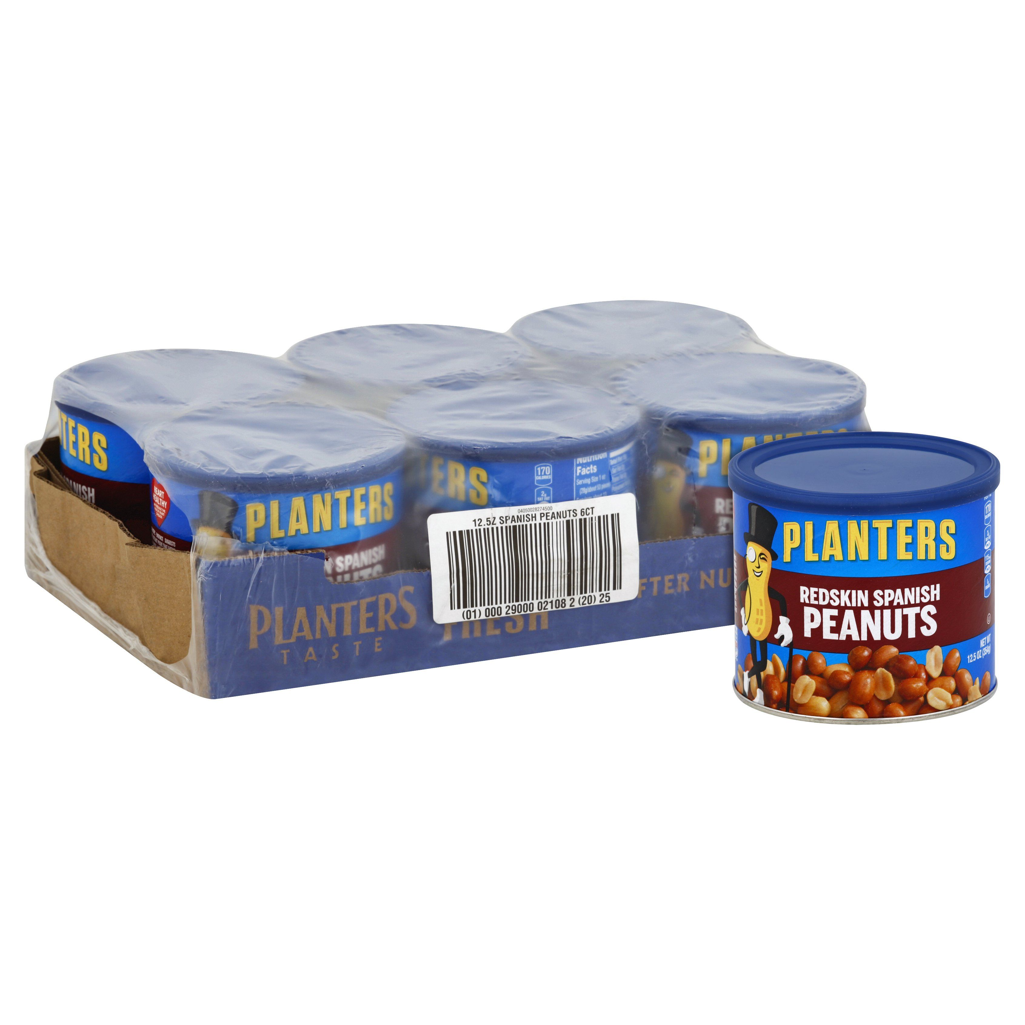 Planters Peanuts Planters Redskin Spanish 12.5 Oz-6 Count
