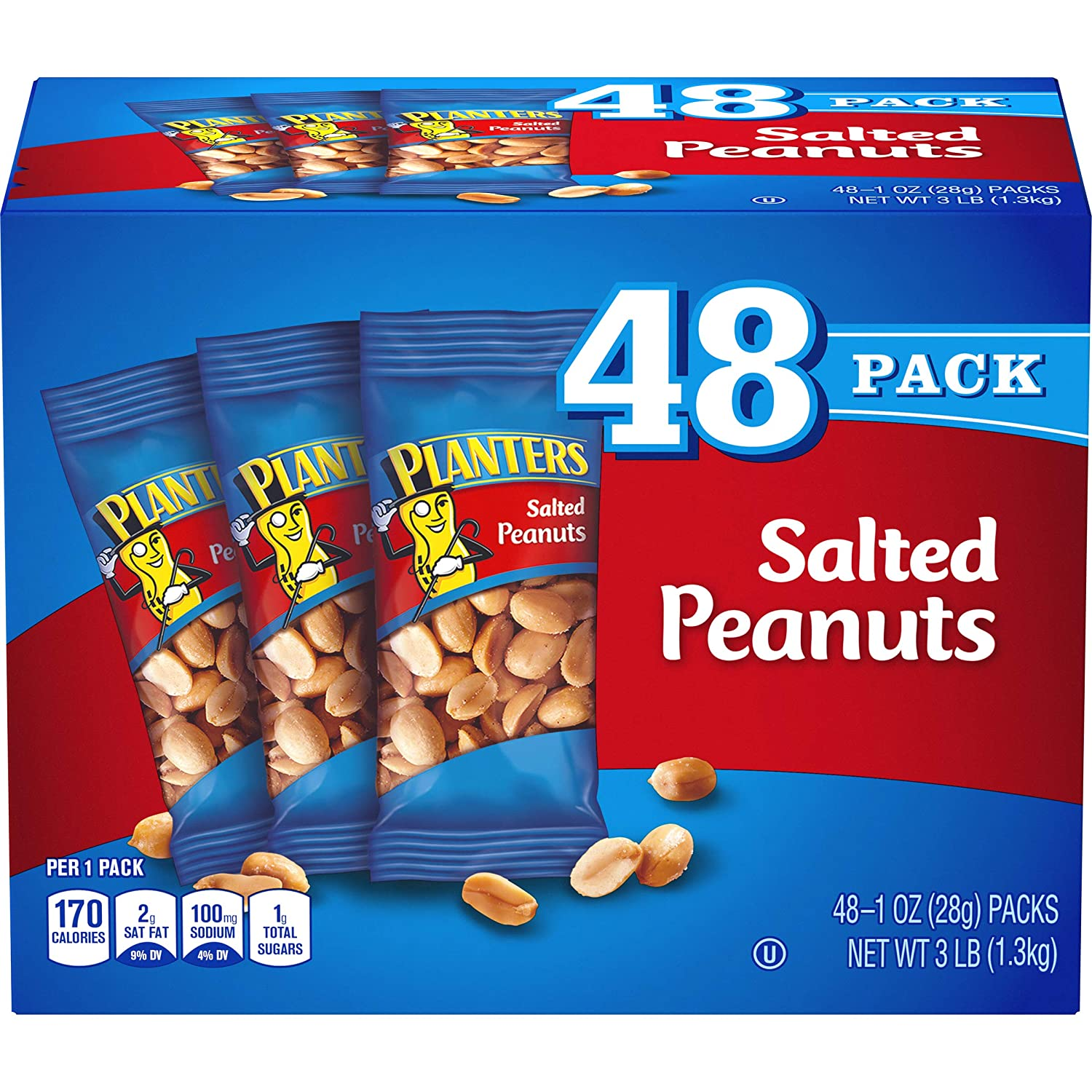 Planters Peanuts Planters Salted 1 Oz-48 Count