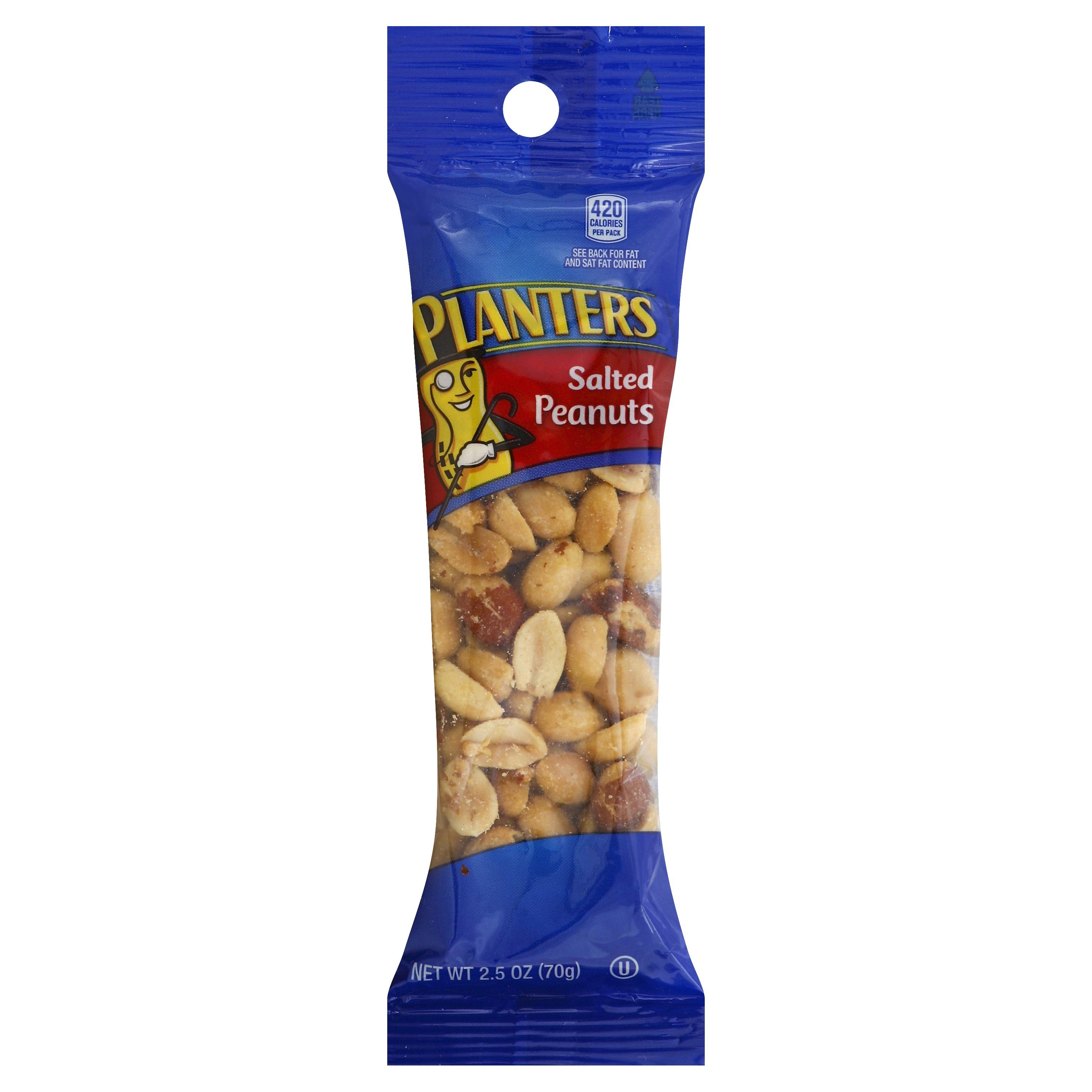 Planters Peanuts Planters Salted 2.5 Ounce