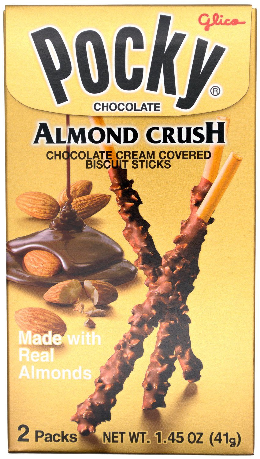 Pocky Cream Covered Biscuit Sticks Glico Almond Crush 1.45 Ounce