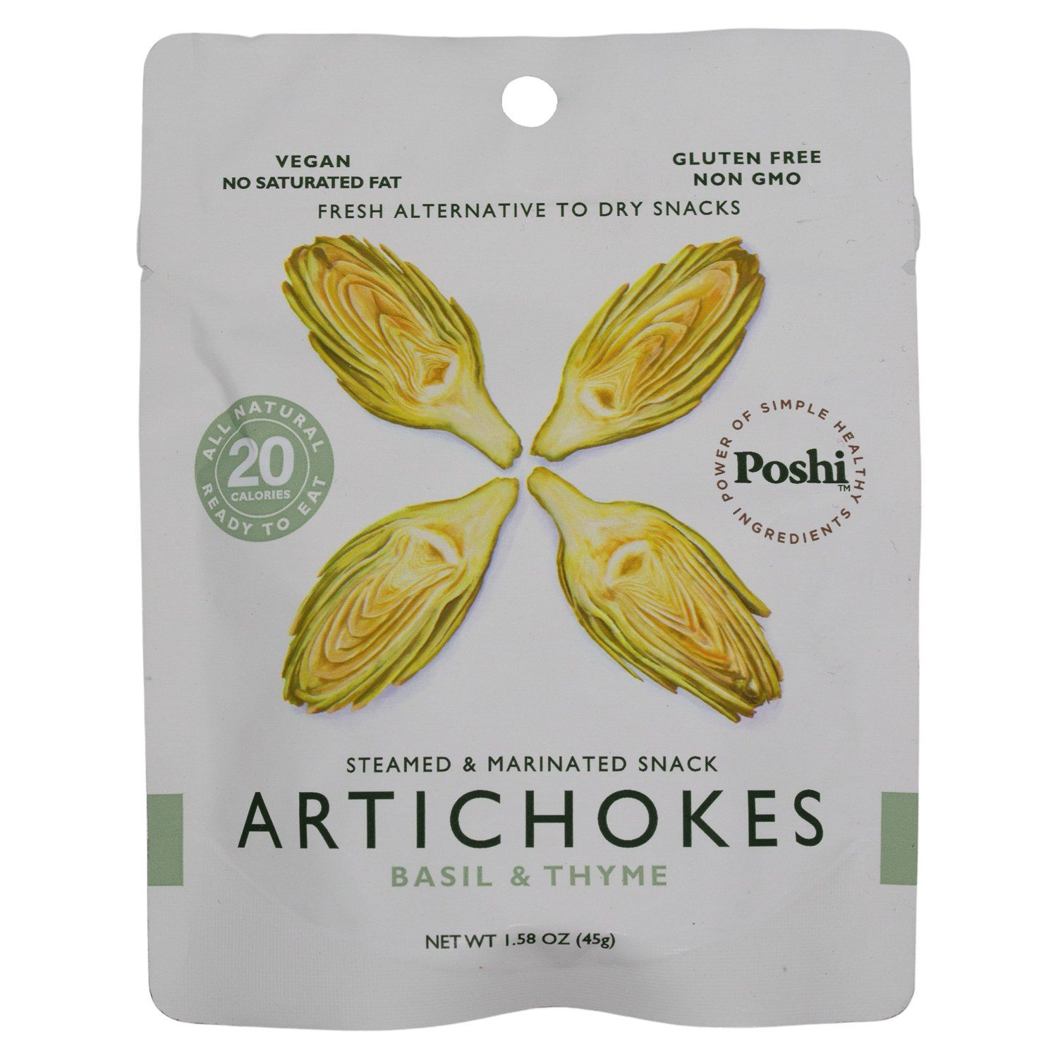 POSHI Vegetable Snacks Elma Farms Artichoke 1.58 Ounce