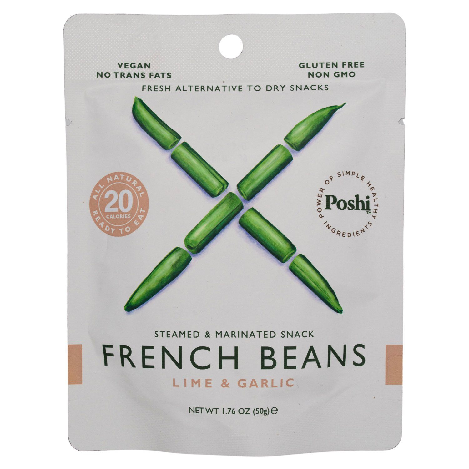 POSHI Vegetable Snacks Elma Farms French Beans 1.76 Ounce