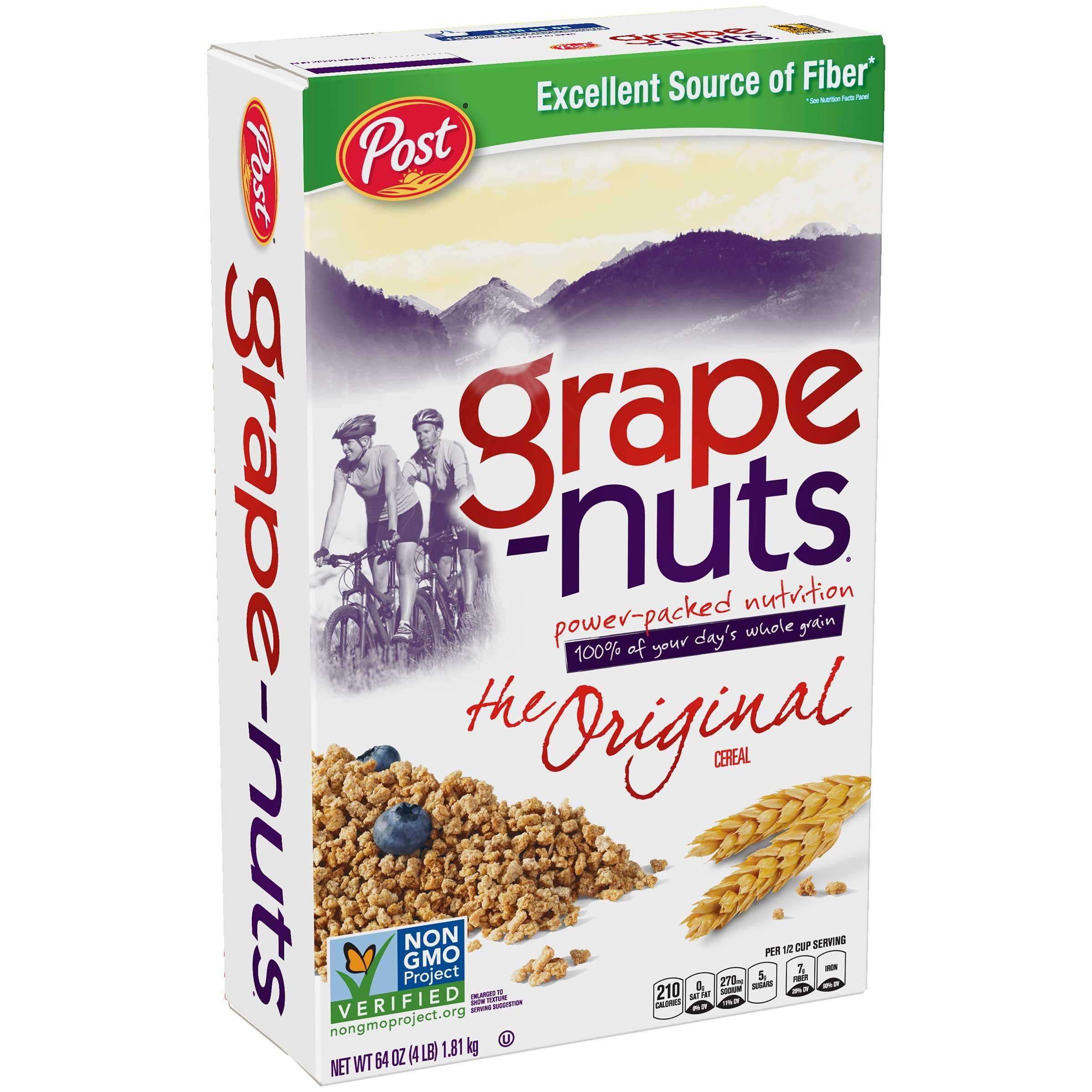 Post Grape-Nuts Non GMO Breakfast Cereal Post Original 64 Ounce
