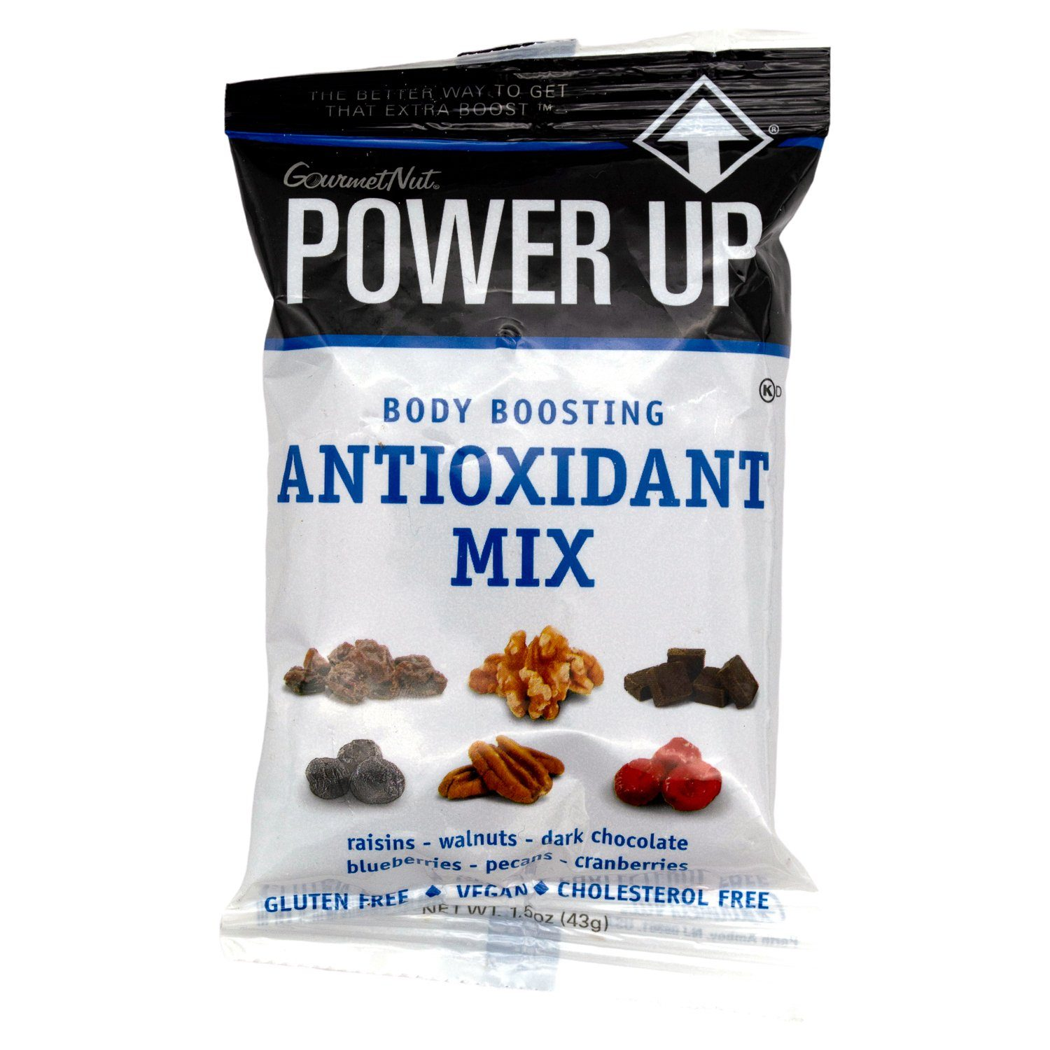 Power Up Trail Mix Gourmet Nut Antioxidant Mix 1.5 Ounce