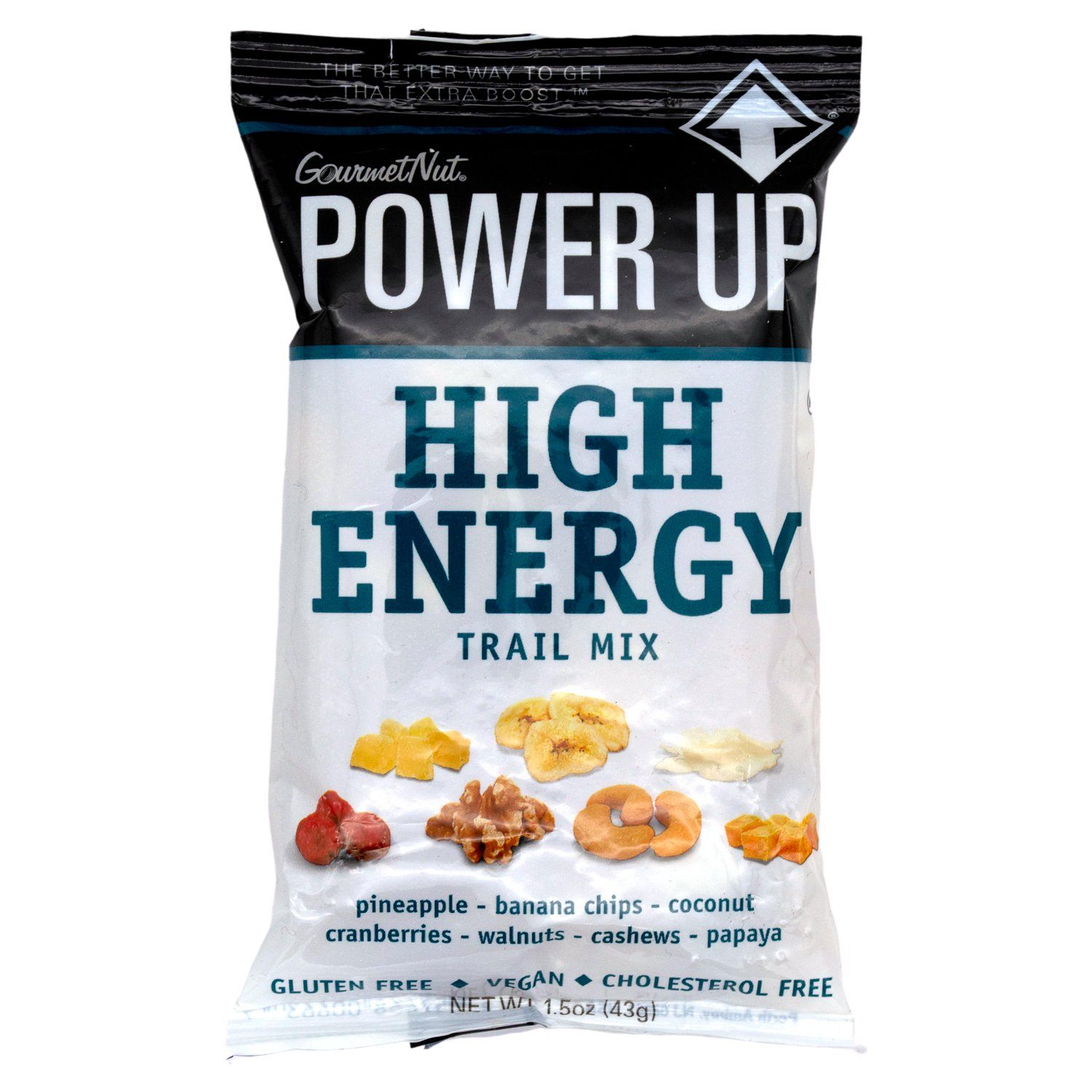 Power Up Trail Mix Gourmet Nut High Energy 1.5 Ounce