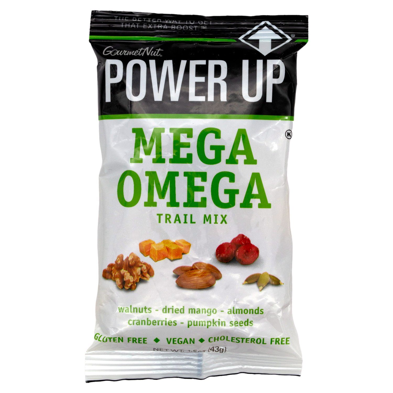 Power Up Trail Mix Gourmet Nut Mega Omega 1.5 Ounce