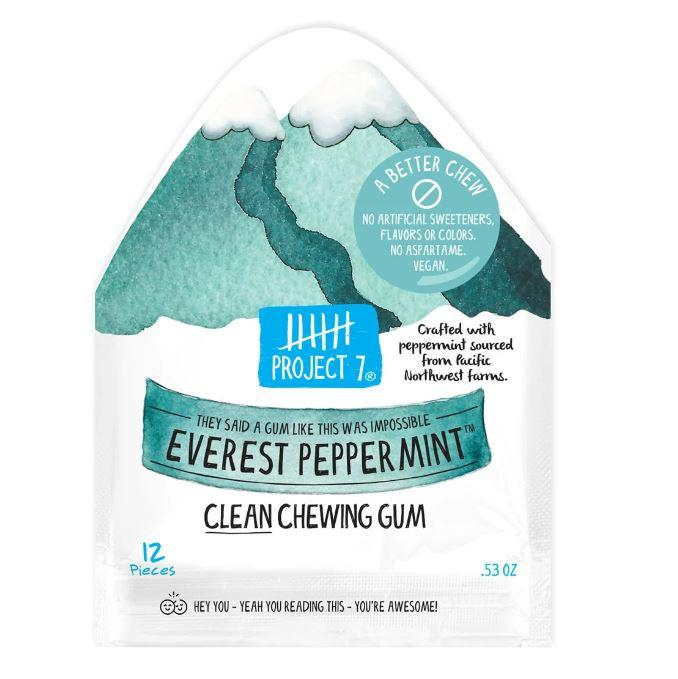 Project 7 Clean Chewing Gum Project 7 Everest Peppermint 0.53 Ounce