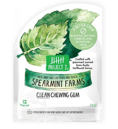 Project 7 Clean Chewing Gum Project 7 Spearmint Farms 0.53 Ounce