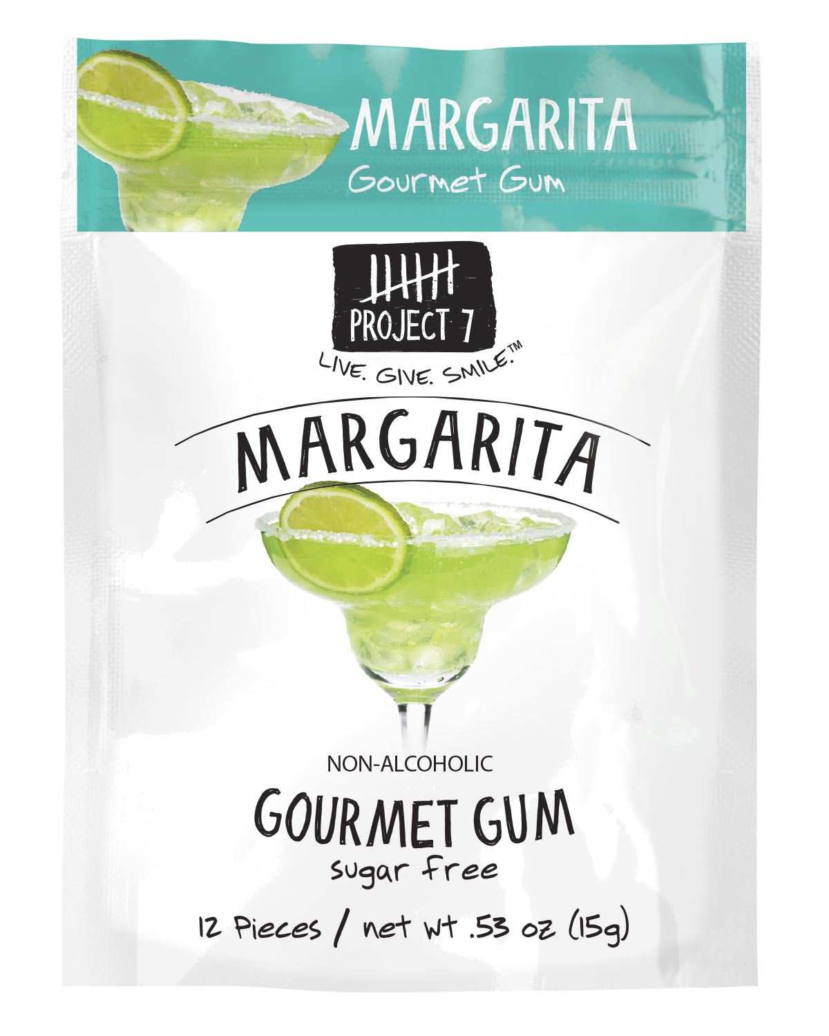 Project 7 Gourmet Gum Sugar Free Snackathon Foods Margarita 0.53 Ounce