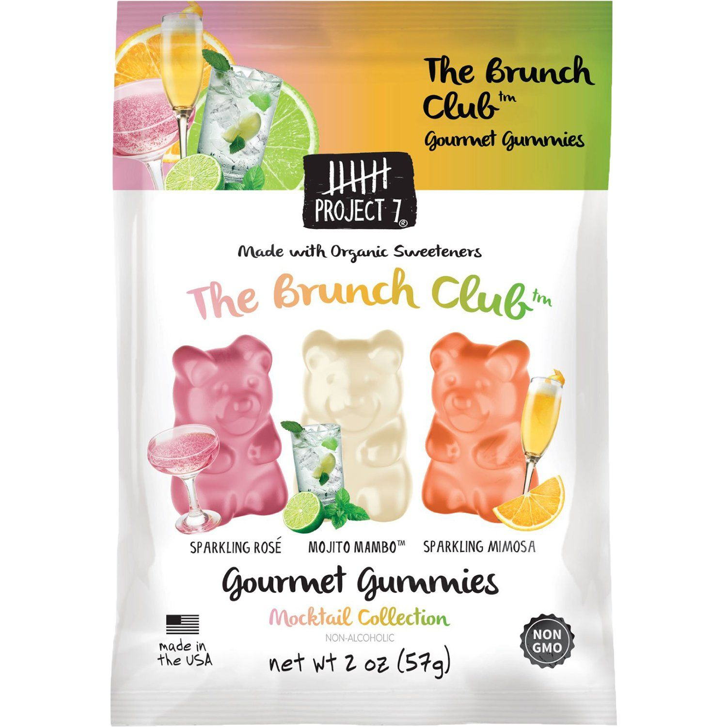 Project 7 Gourmet Gummies Project 7 Brunch Club 2 Ounce