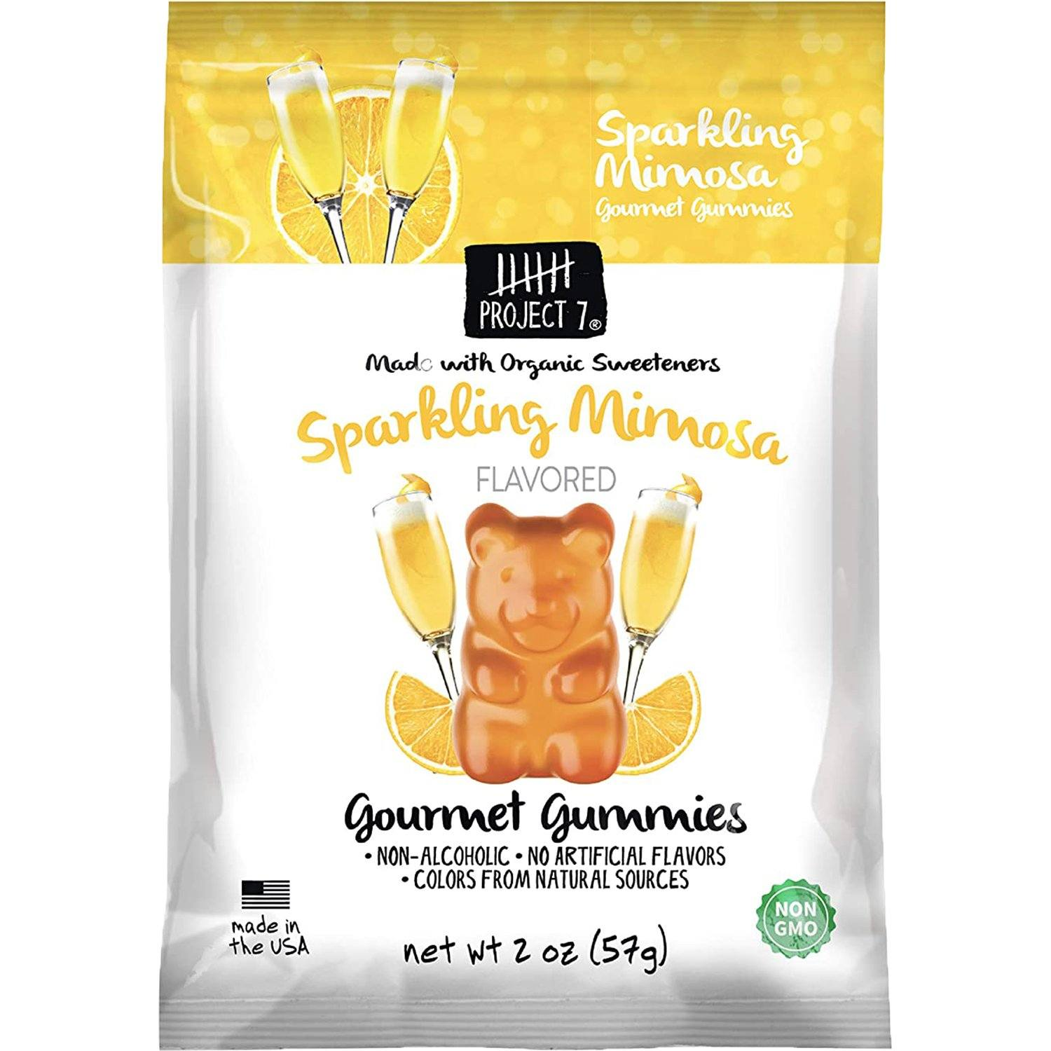 Project 7 Gourmet Gummies Project 7 Sparkling Mimosa 2 Ounce