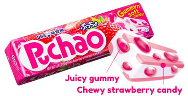Puchao Gummy n' Soft Candy Puchao Strawberry 1.76 Ounce