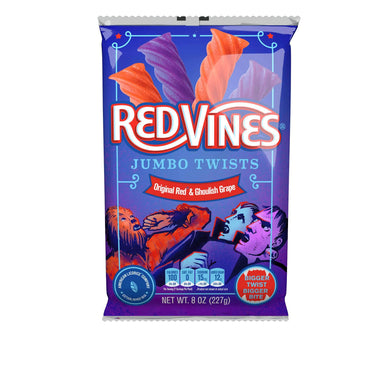 Red Vines Twists Snackathon Foods Jumbo Original & Ghoulish 8 Ounce