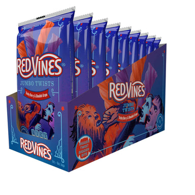 Red Vines Twists Snackathon Foods Jumbo Original & Ghoulish 8 Oz-9 Count
