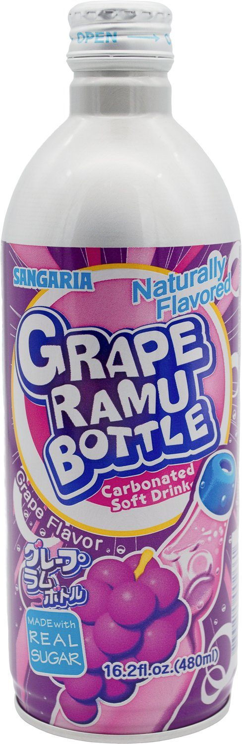Sangaria Ramuné, Premium Carbonated Soft Drink Sangaria Grape 16.2 Fl Oz