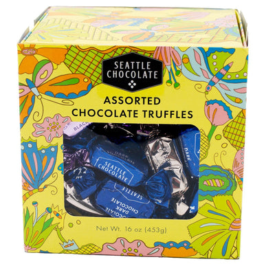 Seattle Chocolate Assorted Chocolate Truffles Meltable Seattle Chocolate 16 Ounce
