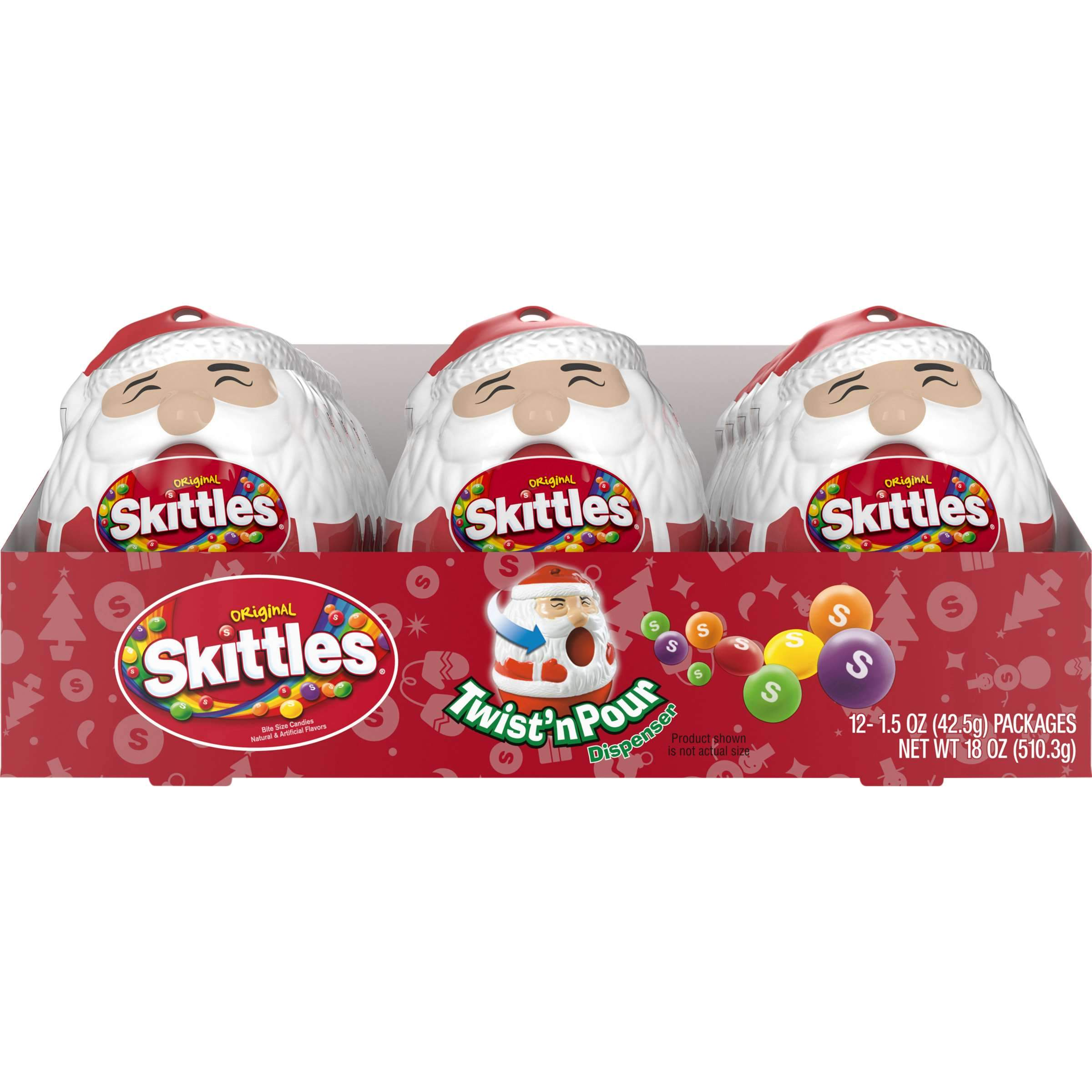 Skittle Holiday Skittles Twist & Pour - Original 1.5 Oz-12 Count