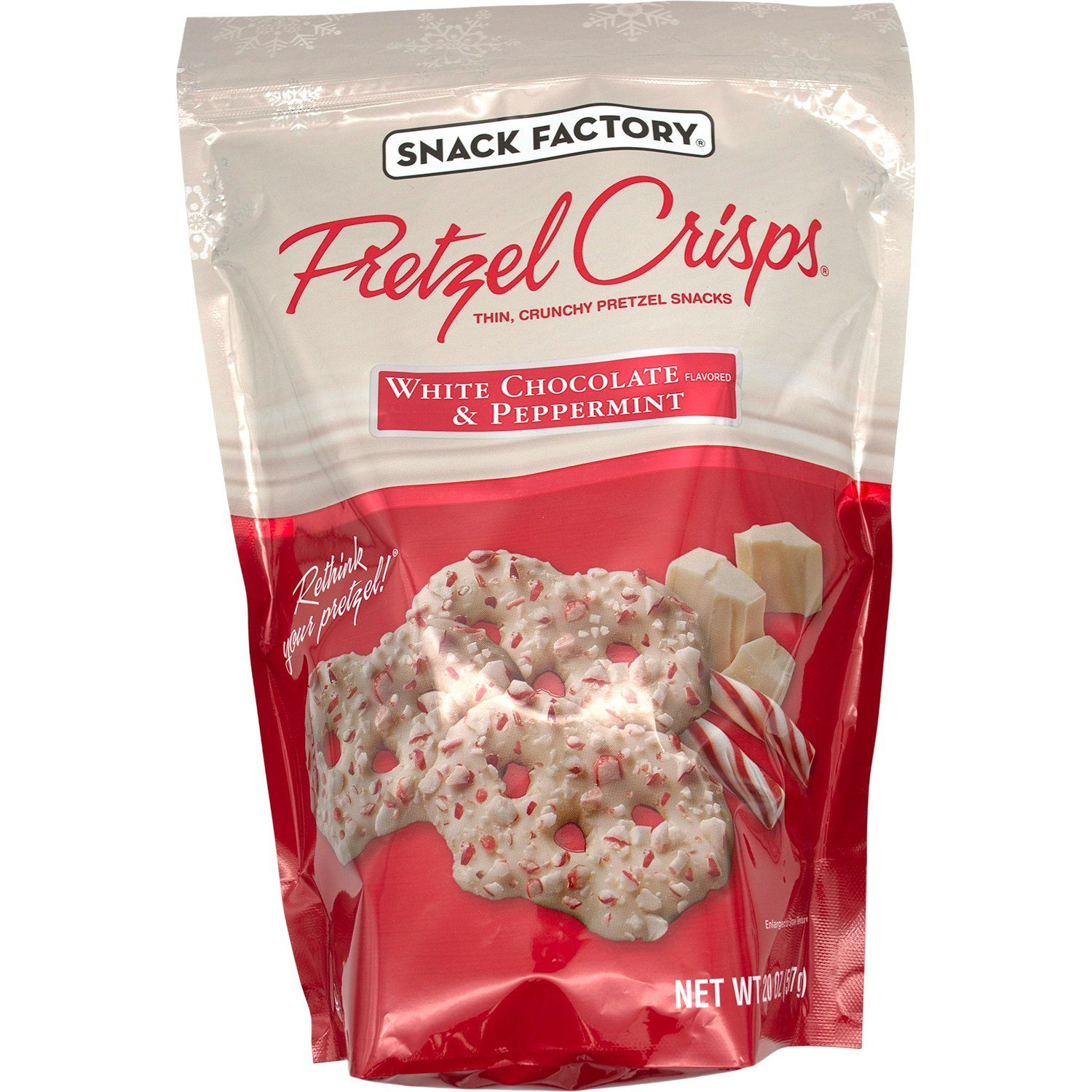 Snack Factory Pretzel Crisps White Chocolate & Peppermint Meltable Snack Factory 20 Ounce