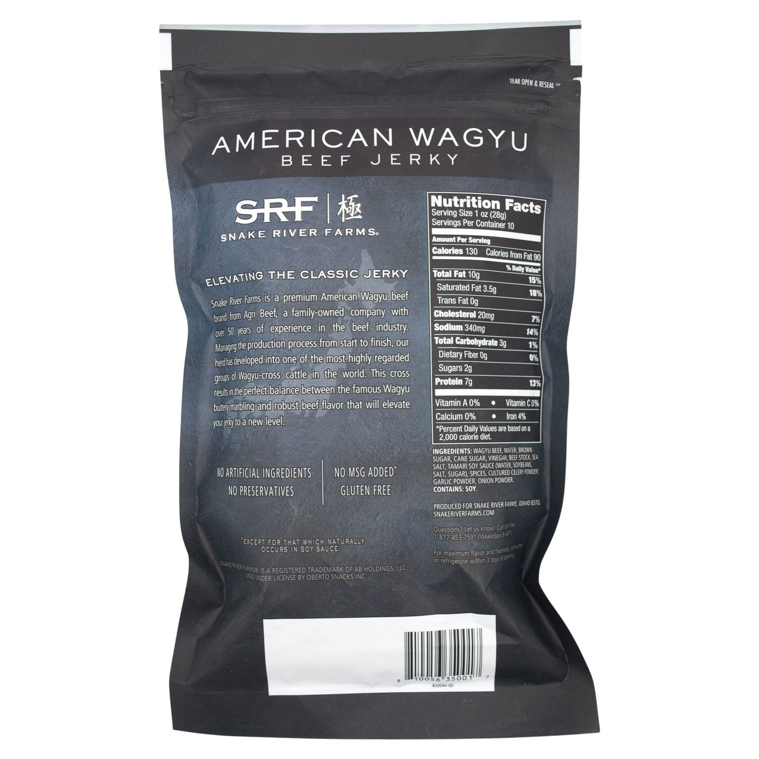 Snake River Farms American Wagyu Beef Jerky Snake River Farms