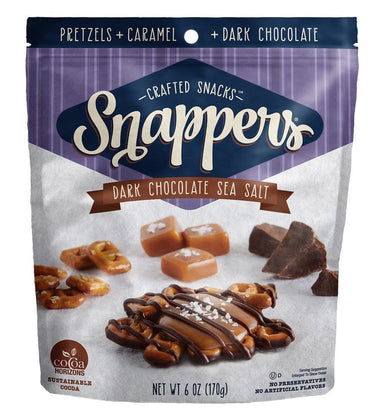 Snappers Chocolate Pretzels Meltable Snappers Dark Chocolate Sea Salt 6 Ounce